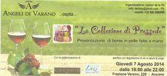"""Esposizione di """"La collezione di Pressede"""" con aperitivo e vini della Cantina """"Angeli di Varano""""  Ancona - Le Marche - Italy - 2014"""