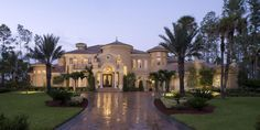 beautiful mediterranean luxury home plans - Google Search