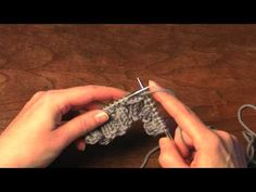 Knitting one-row button holes - YouTube