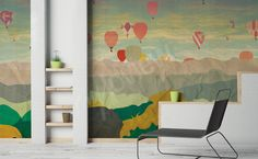 Wallpapers we like: #beautiful #landscape with baloons: a way to decor your #interior