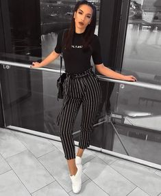 Com summer outfits in 2019 fashion, casual weekend outfit, fashion Vintage Summer Outfits, Classy Outfits, Spring Outfits, Trendy Outfits, Winter Outfits, Chic Outfits, Night Outfits, Summer Pants Outfits, Ootd Spring