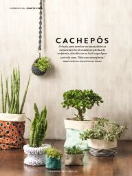 Revista Casa e Jardim Planter Pots, Product Design, Furniture, Vases, October, Feltro, Plants, Home Furniture, Merchandise Designs