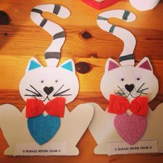Puppet Crafts, Cat Crafts, Arts And Crafts Projects, Diy And Crafts, Projects To Try, Cat Valentine, Valentine Crafts, Classroom Crafts, Crafts For Kids To Make