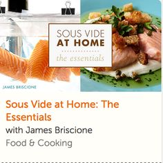 """Chef, cookbook author and two-time """"Chopped"""" champion James Briscione is your guide as you find out how easy sous-vide cooking really is! Sous Vide Cooking, Thai Cooking, Cooking For Two, Healthy Cooking, Healthy Recipes, Online Cooking Classes, Chef Cookbook, Cake Decorating Classes, Easy Weeknight Dinners"""