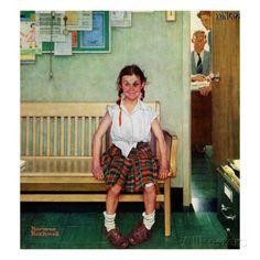 """Blaues Auge"" oder ""Vor dem Zimmer des Direktors"", ""Shiner"" or ""Outside the Principal's Office"", 23. Mai 1953 Giclée-Druck von Norman Rockwell bei AllPosters.de"