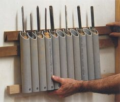 idea for organizing woodturning tools