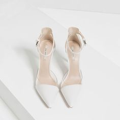 White VINYL D'Orsay from Zara $49.90