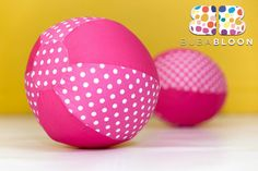 Dots & Spots Pink Fabric Balloon Cover from BUBABLOON®