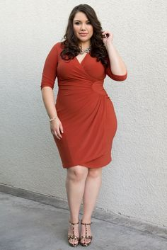 Flaunt your curves in our plus size Ciara Cinch Dress and leopard heels. Then prepare to turn every head while you rock your sexy style. Browse our entire made in the USA collection online at www.kiyonna.com. #KiyonnaPlusYou