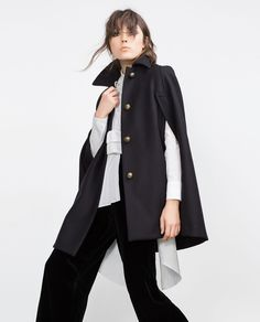 METALLIC BUTTON CAPE-View all-Outerwear-WOMAN   ZARA United States