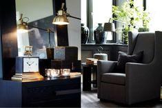 ElisabethsBorg.blogspot.com: Kontraster.... Black And White Interior, Gray Interior, Interior Styling, Interior Decorating, Interior Design, Black White, Living Room Inspiration, Interior Inspiration, Ravenna
