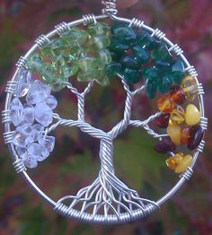 Four Seasons Tree of Life Pendant  Ready to Ship by ethora on Etsy
