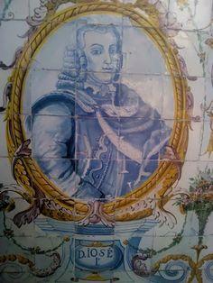 . JOSÉ I – Painel de azulejos no Jardim do Palácio Galveias, Lisboa.