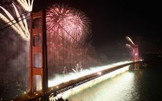Celebrating the 75th anniversary of the opening of the Golden Gate Bridge in San Francisco.