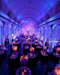 Exquisite blue uplighting  #texturelight #gobo transforms this gorg venue! Nice photo via #officiantguy