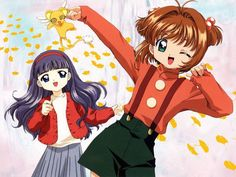 Cardcaptor Sakura!  Oh no...poor Kero!  Sakura, you made the poor guy all dizzy!