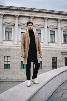 Fall Essentials with Turtleneck and Camel Coat