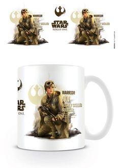 Taza Jyn, Rogue One: A Star Wars Story  Taza cerámica con la imagen de Jyn, basada en el film Rogue One: A Star Wars Story.