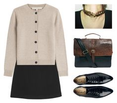 """""""private school."""" by sharplilteeth ❤ liked on Polyvore featuring Monki, Vanessa Bruno, Lanvin and ASOS"""
