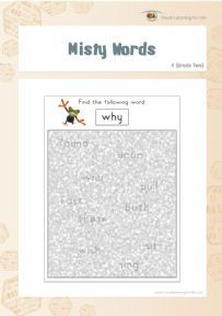 In the Misty Words worksheets the student must find the word highlighted at the top of the page in amongst the mist This file contains 20 worksheets Sight Words, Filing, Worksheets, Student, Letters, Dyslexia, Top, Letter, Literacy Centers