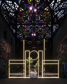 Neon entrance
