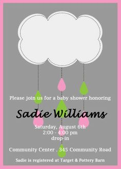 You Print Baby Girl Baby Shower Invitation by cohenlane on Etsy, $8.00