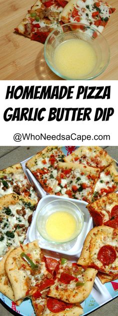 Garlic Butter Dip is the perfect way to enjoy pizza crust! Easy to prepare and oh so good!
