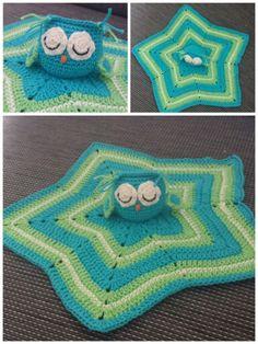 Owl security blanket crochet