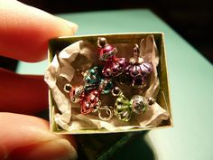 5 Christmas Ornaments in Box 1inch Scale