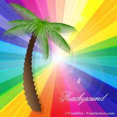 Palm Tree Vector Background