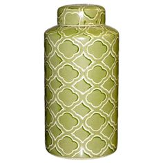 I pinned this Quatrefoil Cylinder Jar from the Shamrock & Shell event at Joss and Main!