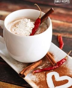 This Mayan hot chocolate is perfectly rich, creamy, foamy, chocolatey. and just a tiny bit spicy. Perfect for these cold winter days! via Favorite Family Recipes Mexican Hot Chocolate, Homemade Hot Chocolate, Chocolate Shop, Hot Chocolate Recipes, Mexican Food Recipes, Dessert Recipes, Desserts, Drink Recipes, Ideas