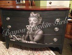 Marilyn Monroe dresser... Decoupage