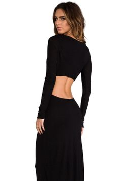 Pencey Standard EXCLUSIVE Long Sleeve Open Back Maxi Dress in Black from REVOLVEclothing