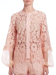 Alexis Sue Lace Blouse In Pink Lyst
