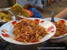 Burmese Food, Spicy Noodles - Bagan, Burma by uncorneredmarket, via Flickr