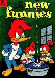 Walter Lantz New Funnies (Volume) - Comic Vine Disney Cartoon Characters, Disney Cartoons, Fictional Characters, Bugs Bunny Cartoons, 1970s Cartoons, Woody Woodpecker, Disney Duck, Duck Tales, Vines