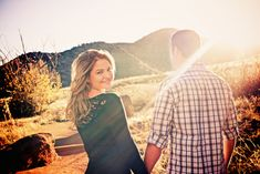 Red Rocks Morrison Colorado Vibrant Sunset Engagement Session by Denver Wedding Photographers Joe and Robin ...