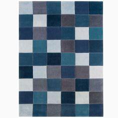 Buy Eden Pixel Blue Rugs | Rugs | The Range