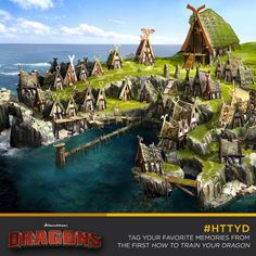 How To Train Your Dragon Concept Vikings 44 Super Ideas Dragon House, Dragon 2, Viking House, Viking Village, Beautiful Dragon, Dreamworks Dragons, Prop Design, Fantasy Landscape, How To Train Your Dragon