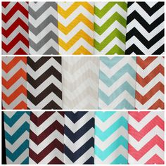 Chevron Kitchen or Hand Towels in Various Colors by DesignsByThem