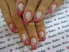 Leopard Nails, Pink Leopard, Nail Time, New Nail Art, Nail Envy, Fabulous Nails, French Nails, Fun Nails, Pedicure