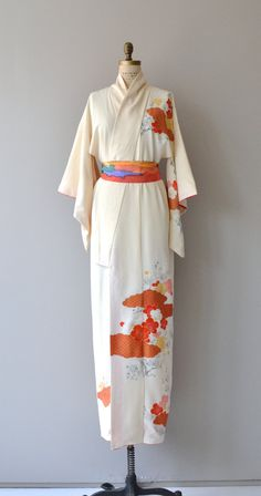 Mume silk kimono vintage japanese kimono floral by DearGolden