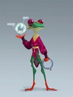 Frog explorer by Murfish.deviantart.com on @deviantART