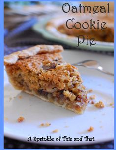 A Sprinkle of This and That: Oatmeal Cookie Day