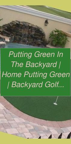 Putting Green in the Backyard | Home Putting Green | Backyard Golf Ideas | Diy Putting Green ... | Outdoor Putting Green Kits | Backyard Putting Green Ideas | Diy Putting Green Cheap | Backyard Putting Green. Lots of golf enthusiasts would love their own putting green, but believe they can't manage it. Let's have a look at how you can develop your very own putting green #golfaddict #golfaddict #golfshirts #Backyard Putting Green Home Putting Green, Outdoor Putting Green, Green Ideas, Improve Yourself, Golf, Diy, Bricolage, Do It Yourself, Homemade