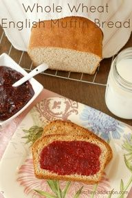 Whole Wheat English Muffin Bread from www.a-kitchen-add...