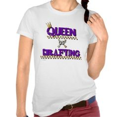 Queen of Crafting purple T-Shirt
