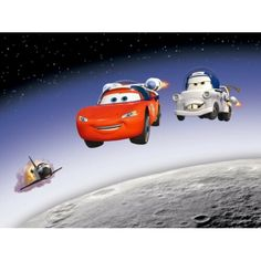 Cars 2 Lightning McQueen and Siddeley in Space L x W 2 Piece Wallpaper Disney Cars, Disney Pixar, Walt Disney, Embossed Wallpaper, Wallpaper Roll, Wall Wallpaper, Lightning Mcqueen, Buy Wallpaper Online, Hazelwood Home