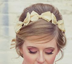 Three little bows, headband